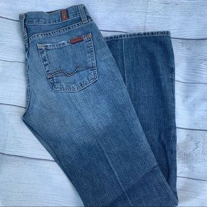7 For All Mankind distressed bootcut jeans…
